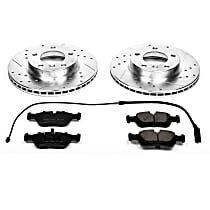K496 Front Z23 Daily Carbon-Fiber Ceramic Brake Pad and Drilled & Slotted Rotor Kit