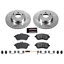Power Stop® K5790 Front Z23 Daily Carbon-Fiber Ceramic Brake Pad and Drilled & Slotted Rotor Kit