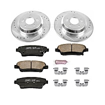 Power Stop® K5848 Rear Z23 Daily Carbon-Fiber Ceramic Brake Pad and Drilled & Slotted Rotor Kit