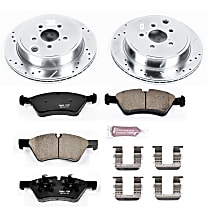 Power Stop® K5883 Rear Z23 Daily Carbon-Fiber Ceramic Brake Pad and Drilled & Slotted Rotor Kit