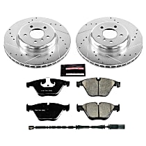 Power Stop® K6020 Front Z23 Daily Carbon-Fiber Ceramic Brake Pad and Drilled & Slotted Rotor Kit