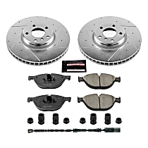 Power Stop® K6026 Front Z23 Daily Carbon-Fiber Ceramic Brake Pad and Drilled & Slotted Rotor Kit