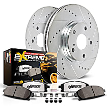 Power Stop® K6099-36 Rear Z36 Truck Carbon-Fiber Ceramic Brake Pad and Drilled & Slotted Rotor Kit