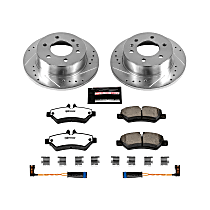 Power Stop® K6197-36 Rear Z36 Truck Carbon-Fiber Ceramic Brake Pad and Drilled & Slotted Rotor Kit