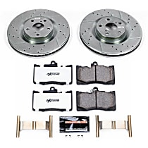 Power Stop® K6355-26 Front Z26 Muscle Carbon-Fiber Ceramic Brake Pad and Drilled & Slotted Rotor Kit