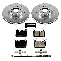 K6653 Front Z23 Daily Carbon-Fiber Ceramic Brake Pad and Drilled & Slotted Rotor Kit