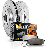 Power Stop® K6994-36 Rear Z36 Truck Carbon-Fiber Ceramic Brake Pad and Drilled & Slotted Rotor Kit