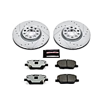 Power Stop® K7299-36 Front Z36 Truck Carbon-Fiber Ceramic Brake Pad and Drilled & Slotted Rotor Kit
