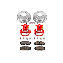 Rear Z36 Z36 Truck Carbon-Fiber Ceramic Brake Pad, Drilled & Slotted Rotor + Calipers