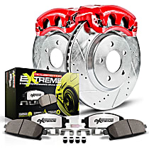 KC4989-26 Rear Z26 Muscle Carbon-Fiber Ceramic Brake Pad, Drilled & Slotted Rotor and Caliper Kit