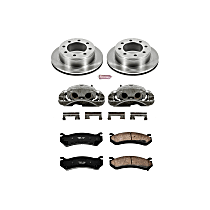 Powerstop Rear Brake Disc and Caliper Kit - Autospecialty OE Replacement 2-Wheel Set, For Models With Single Rear Wheels