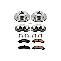 KCOE2046 Rear OE Stock Replacement Low-Dust Ceramic Brake Pad, Rotor and Caliper Kit
