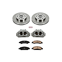 KCOE2069 Front OE Stock Replacement Low-Dust Ceramic Brake Pad, Rotor and Caliper Kit