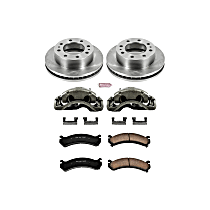 Powerstop Front Brake Disc and Caliper Kit - Autospecialty OE Replacement 2-Wheel Set, For Models With Single Rear Wheels