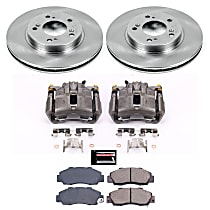 KCOE704A Front OE Stock Replacement Low-Dust Ceramic Brake Pad, Rotor and Caliper Kit