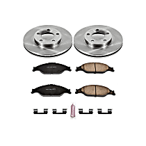 Powerstop Front Brake Disc and Pad Kit - Autospecialty Replacement 2-Wheel Set, Incl. 11.06 in. Replacement Rotors