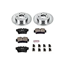 Powerstop Rear Brake Disc and Pad Kit - Autospecialty Replacement 2-Wheel Set, Incl. 10.51 in. Replacement Rotors