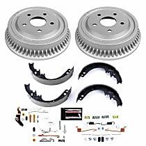 KOE15283DK Rear OE Stock Replacement Low-Dust Ceramic Brake Pad, Rotors with Drum + Shoe Kit