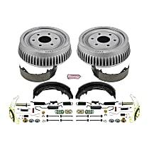 KOE15285DK Rear OE Stock Replacement Low-Dust Ceramic Brake Pad, Rotors with Drum + Shoe Kit