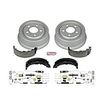 KOE15300DK Rear OE Stock Replacement Low-Dust Ceramic Brake Pad, Rotors with Drum + Shoe Kit