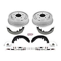 KOE15312DK Rear OE Stock Replacement Low-Dust Ceramic Brake Pad, Rotors with Drum + Shoe Kit