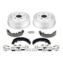 KOE15344DK Rear OE Stock Replacement Low-Dust Ceramic Brake Pad, Rotors with Drum + Shoe Kit