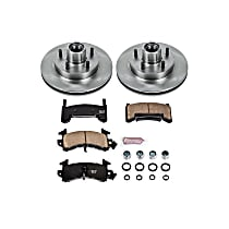 Powerstop Front Brake Disc and Pad Kit - Autospecialty Replacement 2-Wheel Set, RWD Models, Incl. 10.51 in. Replacement Rotors