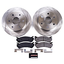 KOE2009 Front OE Stock Replacement Low-Dust Ceramic Brake Pad and Rotor Kit