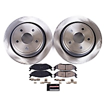 KOE2172 Rear OE Stock Replacement Low-Dust Ceramic Brake Pad and Rotor Kit