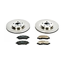 KOE3032 Front OE Stock Replacement Low-Dust Ceramic Brake Pad and Rotor Kit