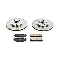 KOE3053 Front OE Stock Replacement Low-Dust Ceramic Brake Pad and Rotor Kit