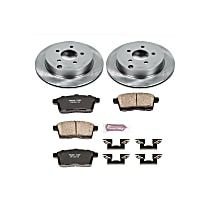 Powerstop Rear Brake Disc and Pad Kit - Autospecialty Replacement 2-Wheel Set, Incl. 11.89 in. Replacement Rotors