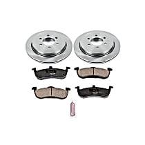 Powerstop Rear Brake Disc and Pad Kit - Autospecialty Replacement 2-Wheel Set, Incl. 13.46 in. Replacement Rotors