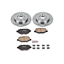 Powerstop Rear Brake Disc and Pad Kit - Autospecialty Replacement 2-Wheel Set, Incl. 12.99 in. Replacement Rotors