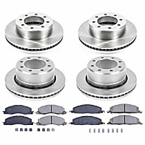 KOE5458 Front and Rear OE Stock Replacement Low-Dust Ceramic Brake Pad and Rotor Kit