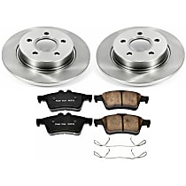 Powerstop Rear Brake Disc and Pad Kit - Autospecialty Replacement 2-Wheel Set, Models With 320 or 335mm Front Rotors