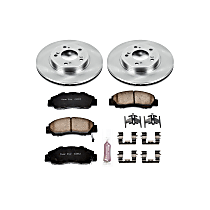 Front OE Stock Replacement Low-Dust Ceramic Brake Pad and Rotor Kit