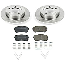 Power Stop® KOE8277 Rear OE Stock Replacement Low-Dust Ceramic Brake Pad and Rotor Kit