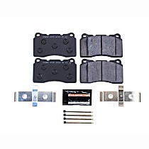 Powerstop Front Brake Pad Set - Track Day Racing 2-Wheel Set, Carbon Fiber Metallic