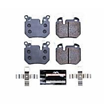 Powerstop Rear Brake Pad Set - Track Day Racing 2-Wheel Set, Carbon Fiber Metallic