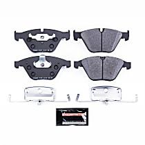 Powerstop Front Brake Pad Set - Track Day Racing 2-Wheel Set, Carbon Fiber Metallic