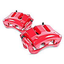 Powerstop Front Driver and Passenger Side Brake Caliper - Performance Series 2-Wheel Set, Red Powdercoated
