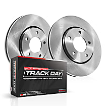Powerstop Front Brake Disc and Pad Kit - Track Day Performance 2-Wheel Set