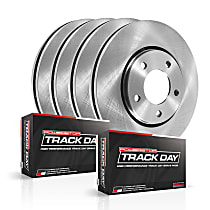Powerstop Front And Rear Brake Disc and Pad Kit - Track Day Performance 4-Wheel Set