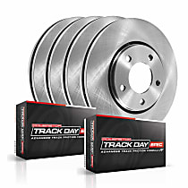 Powerstop Front And Rear Brake Disc and Pad Kit - Track Day Spec Performance 4-Wheel Set