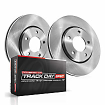 Power Stop® TDSK7084 Rear Track Day Spec High-Performance Brake Pads and Rotor Kit