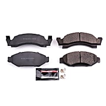 Power Stop® Z23-050 Front Z23 Daily Carbon-Fiber Ceramic Brake Pads with Stainless-Steel Hardware Kit
