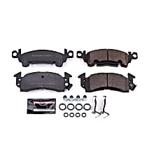 Power Stop® Z23-052 Front OR Rear Z23 Daily Carbon-Fiber Ceramic Brake Pads with Stainless-Steel Hardware Kit