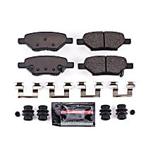 Power Stop® Z23-1033 Rear Z23 Daily Carbon-Fiber Ceramic Brake Pads with Stainless-Steel Hardware Kit