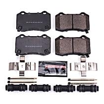 Z23-1053 Rear Z23 Daily Carbon-Fiber Ceramic Brake Pads with Stainless-Steel Hardware Kit